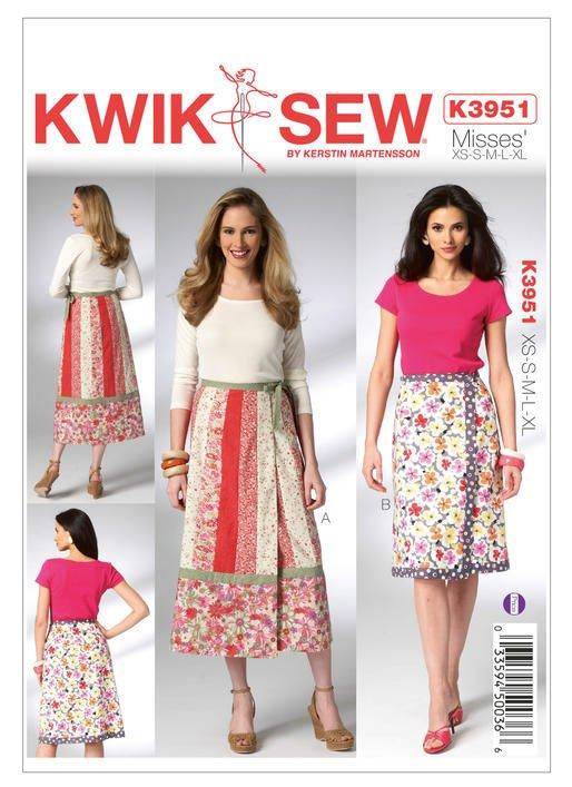 Kwik Sew K3951 Misses Skirts sz xs-xl