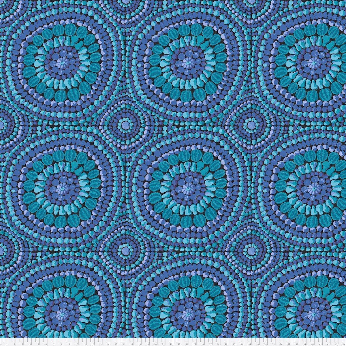 Free Spirit Kaffe Fassett Fall 2018 Mandala Blue 108 QBGP003.BLUE