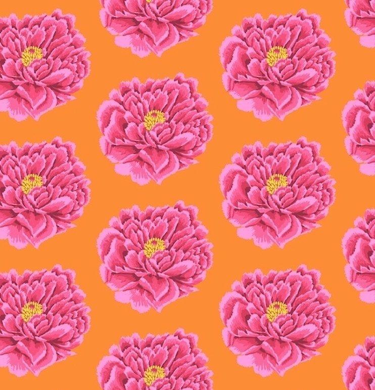 Free Spirit Kaffe Fassett Fall 2018 Full Bloom Pink QBGP004.2PINK