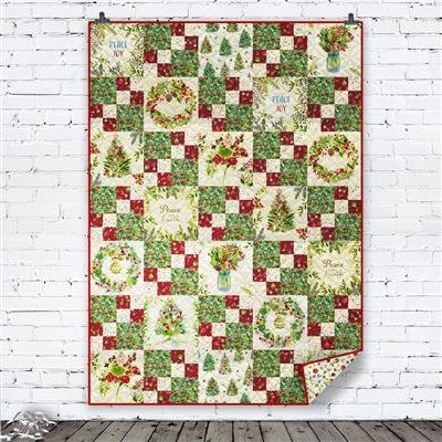 Clothworks O Christmas Tree Early Dawn Quilt Kit Green