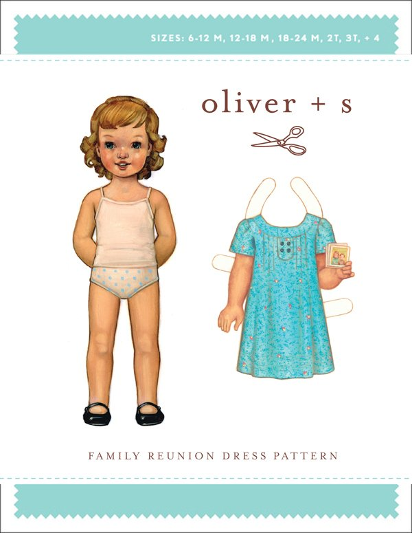 Oliver + S Family Reunion Dress Pattern sz 5-12