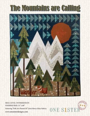 The Mountains Are Calling Quilt Kit *WITH Rulers and Pattern