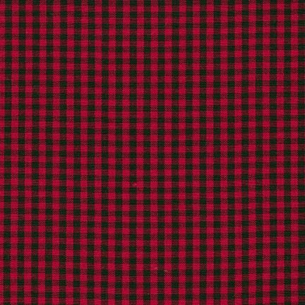 Robert Kaufman Carolina Gingham Check 2 inch Scarlet Buffalo Plaid