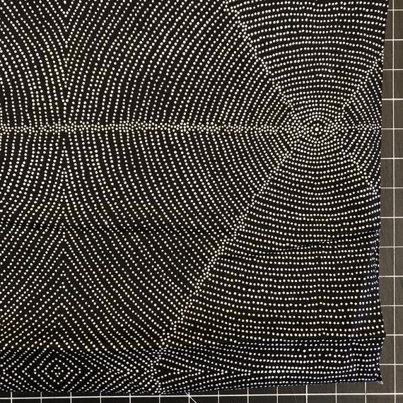 M & S Textiles Plum Seeds Black by Kathleen Pitjara
