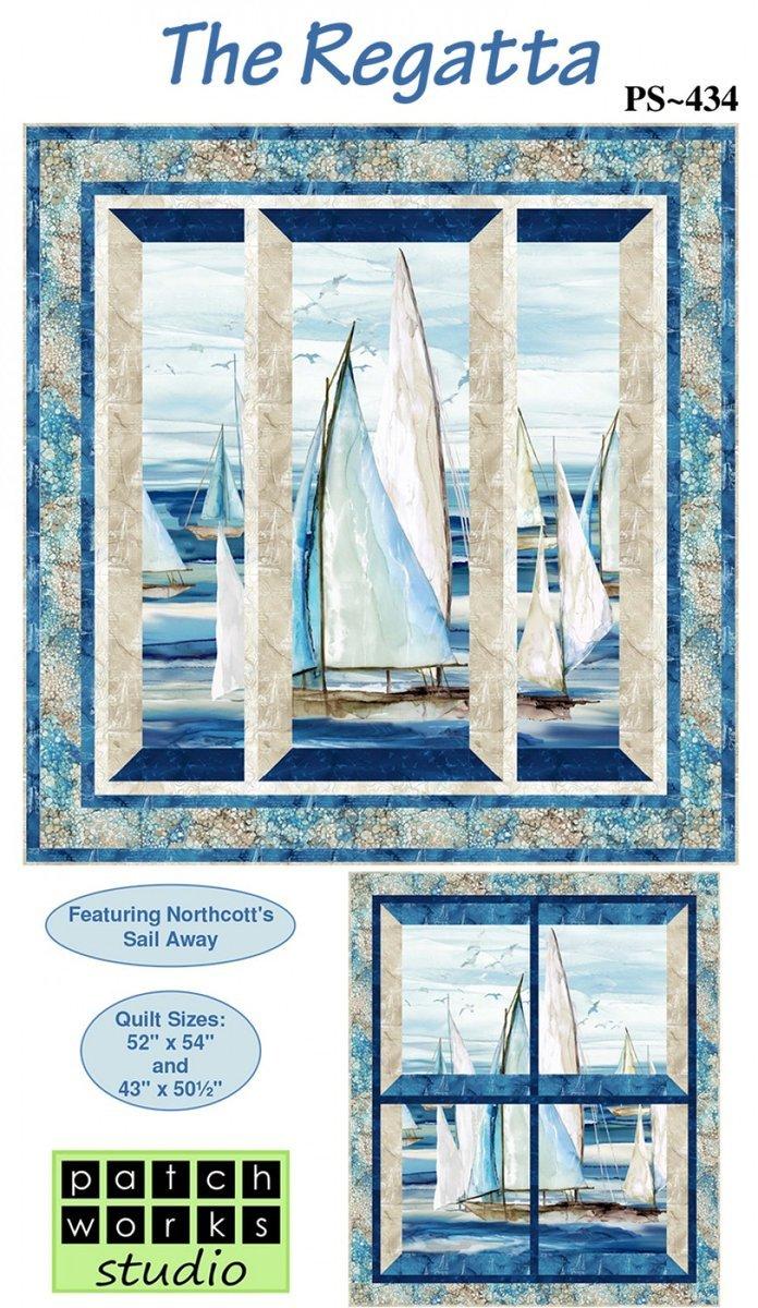 Northcott Sail Away The Regatta Kit 52 x 54