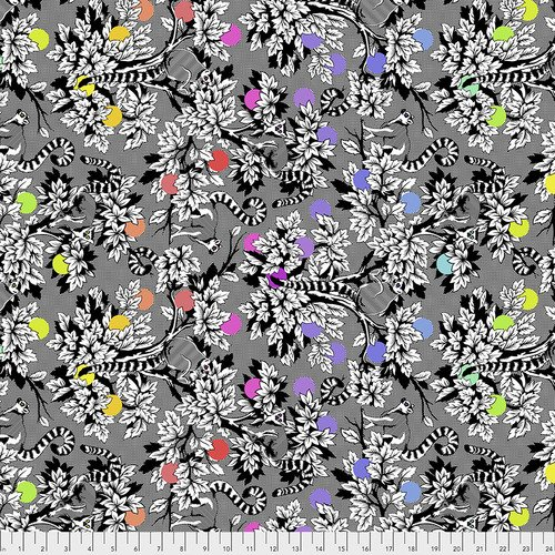Free Spirit Tula Pink Linework PWTP154.INK Lemur Me Alone Ink