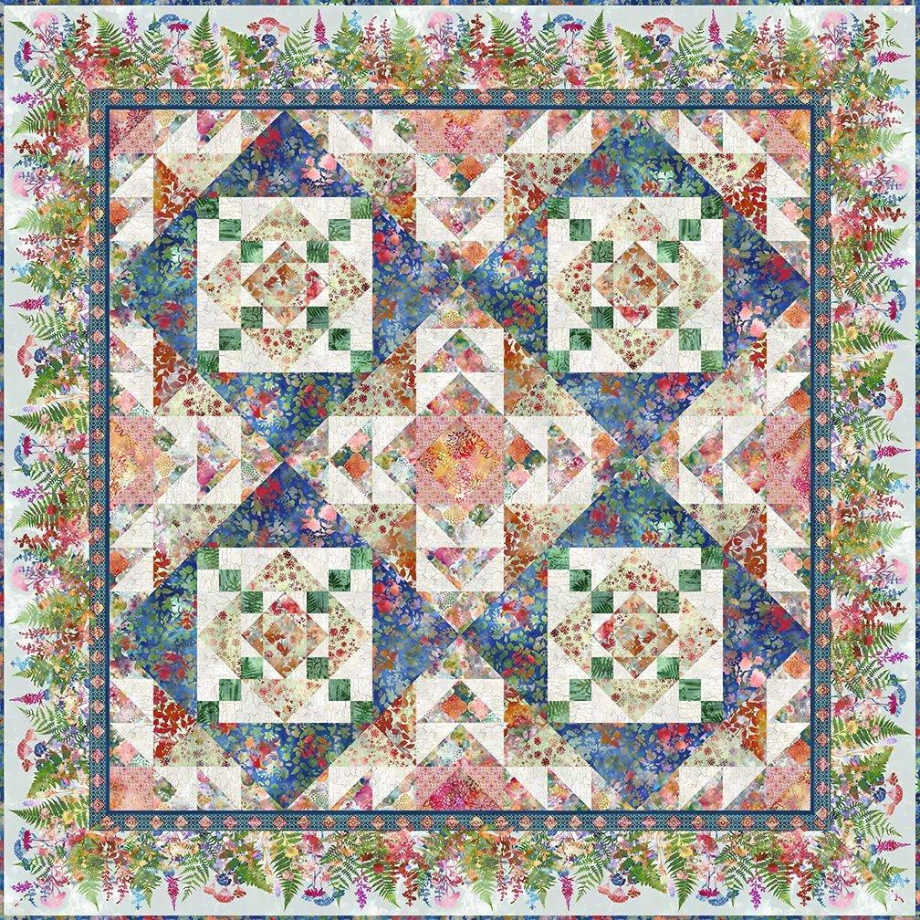 Jason Yenter In the Beginning Haven Harmonious Quilt Kit 83.5 x 83.5