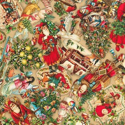 Robert Kaufman Library of Rarities Christmas SRKD-20462-200 VINTAGE