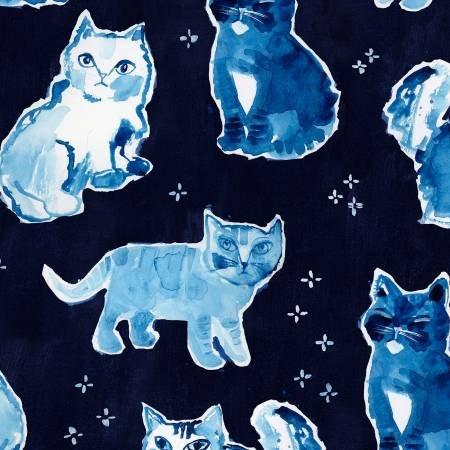 Dear Stella Blue Crush- Multi Blue Indigo Cats