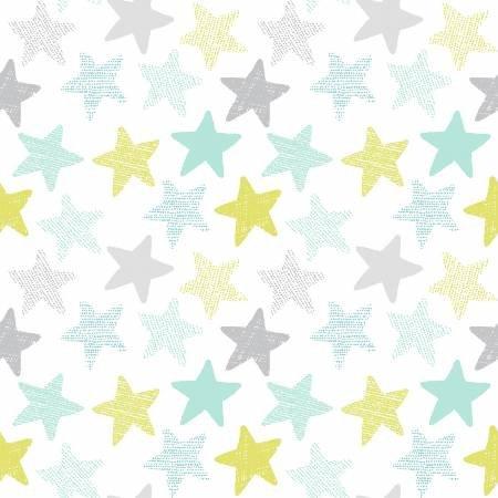 Dear Stella White Stars Knit 58 WSTELLA-K1152