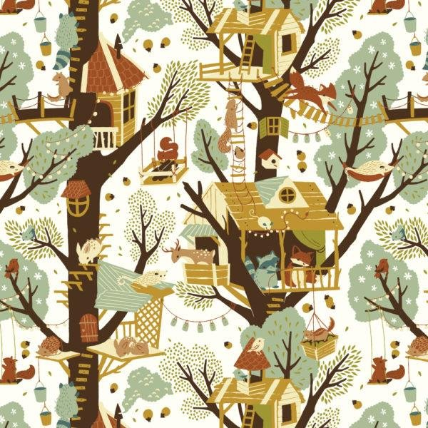 Birch Fabrics Best of Teagan White Tree Fort