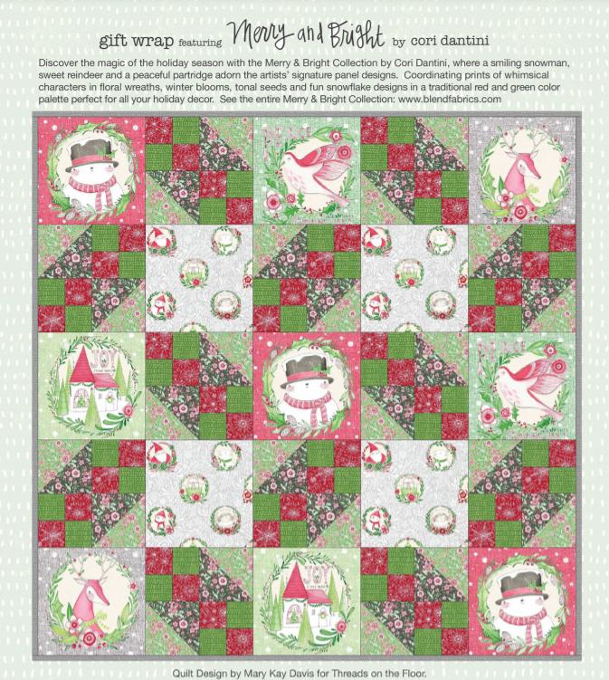Blend Fabrics Merry & Bright Quilt Kit