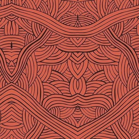 M & S Textiles Untitled Red by Nambooka UNR