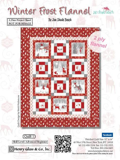 Henry Glass & Co. Winter Frost Flannel Quilt Kit