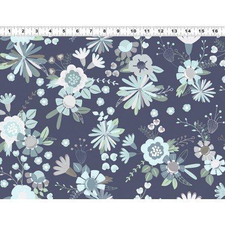 Clothworks Secret Garden Y262293 Light Navy