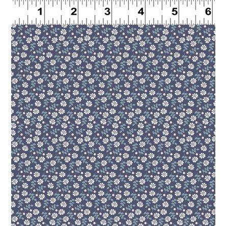 Clothworks Secret Garden Y2626-93 Light Navy