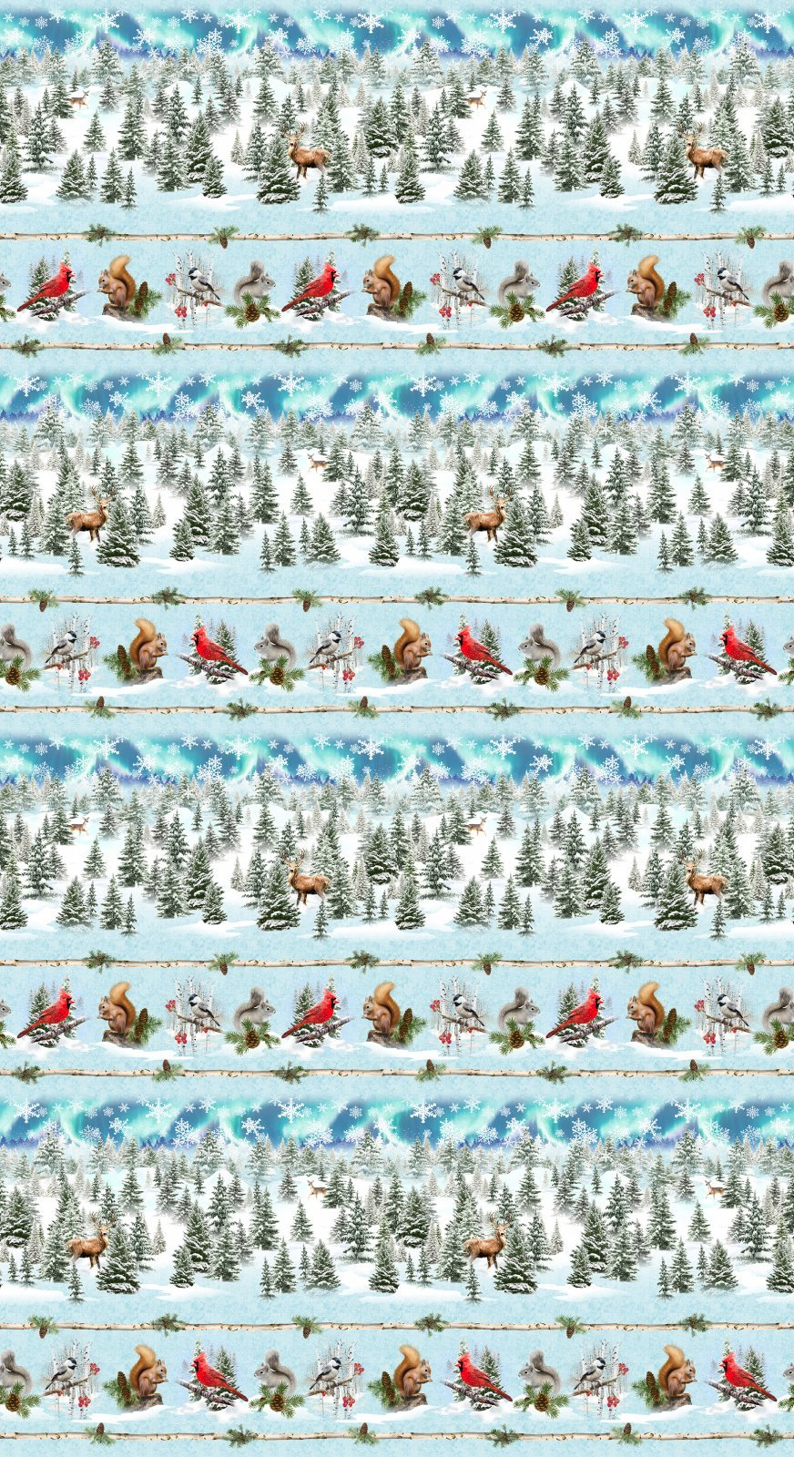 Clothworks Quilt Minnesota 2021 Y3313-98 Digital Pictorial Stripe Sky