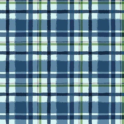 Clothworks Quilt Minnesota 2021 Y3324-90 FLANNEL Plaid Blue
