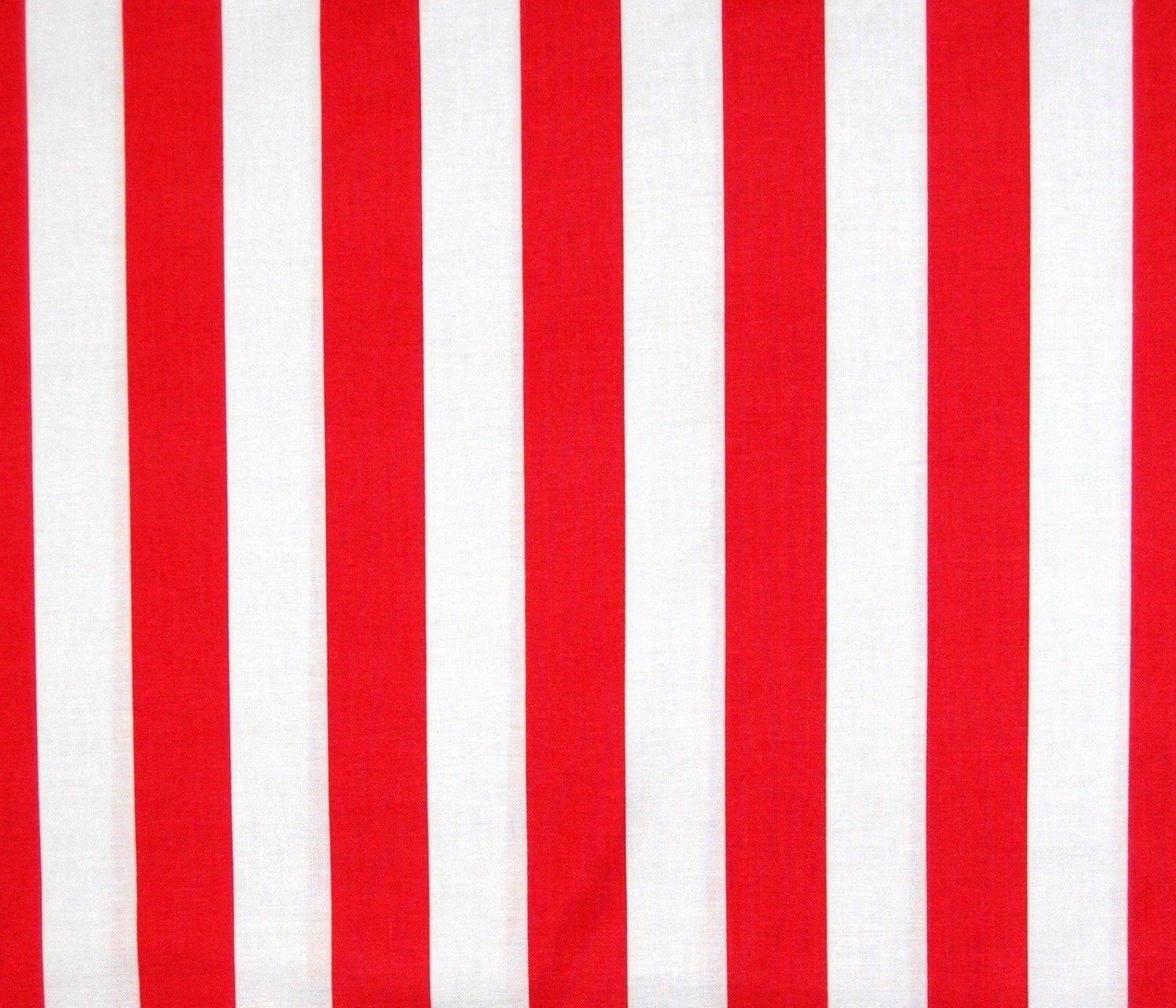 Dear Stella Red White Cabana Stripe