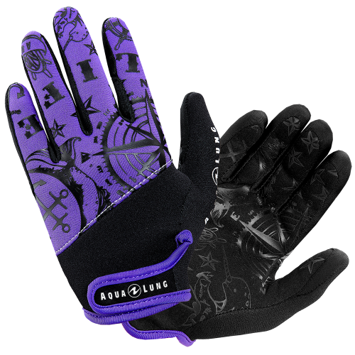 Women's 2mm Admiral III Glove, Black/Twilight