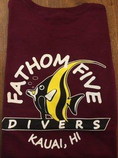 Fathom5 Logo Tee, Maroon