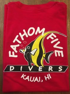 Fathom5 Logo Tee, Deep Red