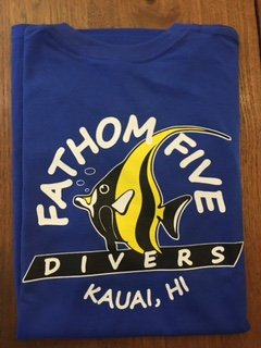 Fathom5 Logo Tee, Deep Royal