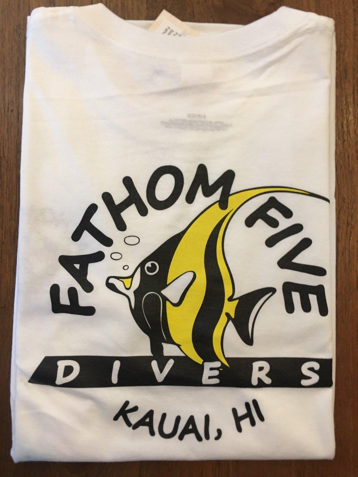 Fathom5 Logo Tee, White