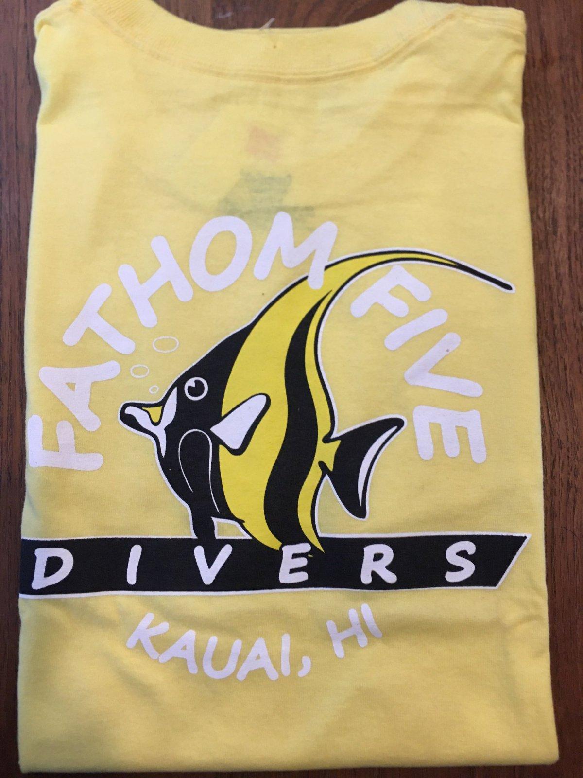 Fathom5 Logo Tee, Yellow
