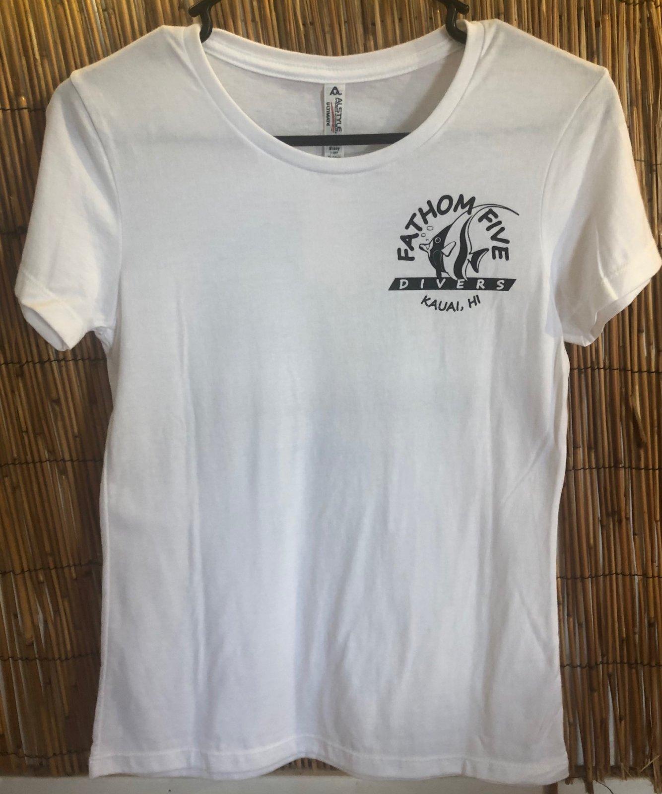 Women's Fathom5 Logo Tee, White