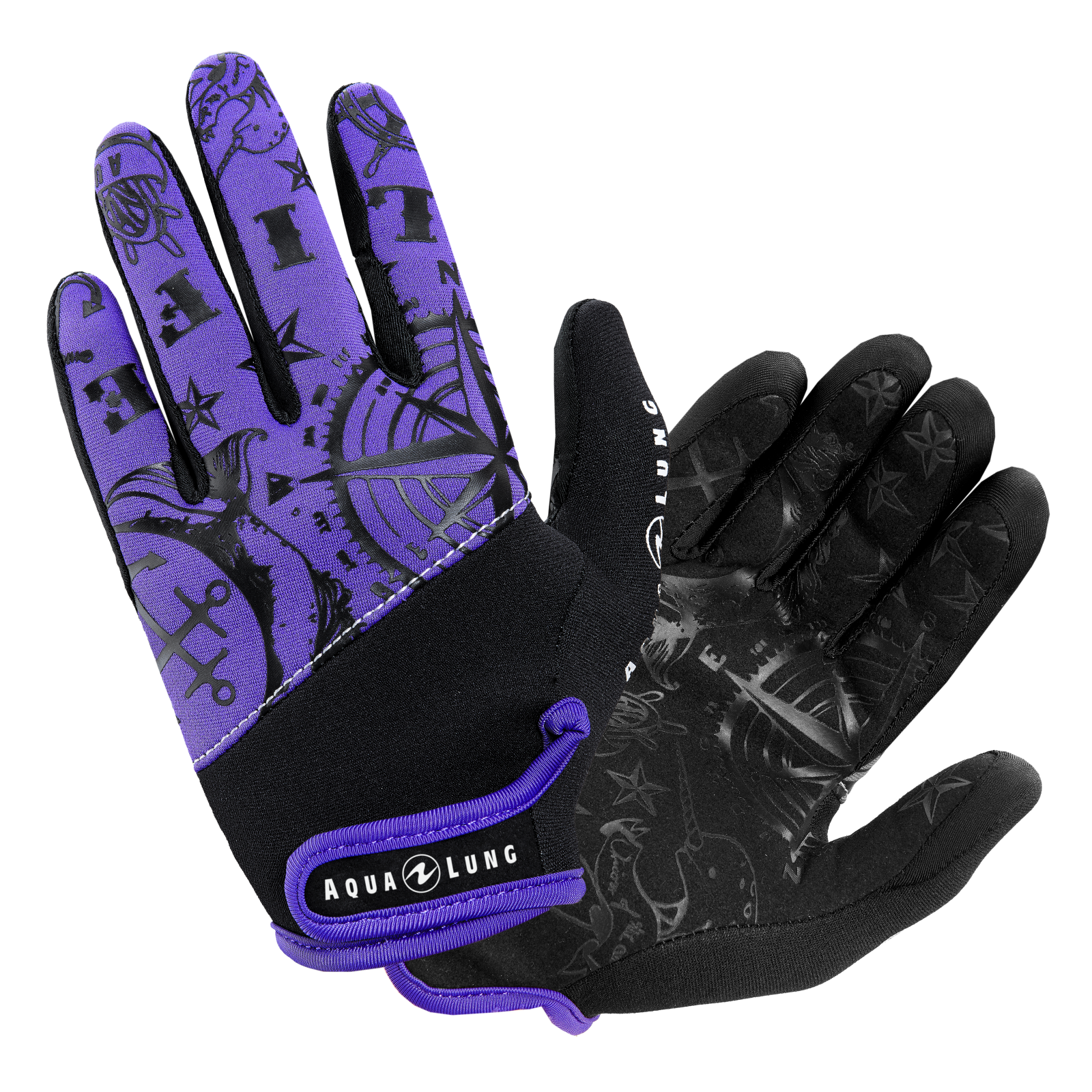 Admiral 3 Gloves Purple - Ladies