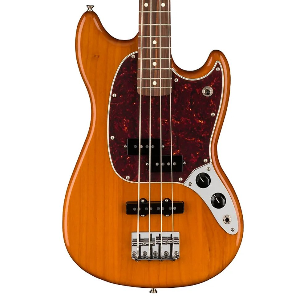 Fender Player Series Mustang Bass PJ in Aged Natural #9986!