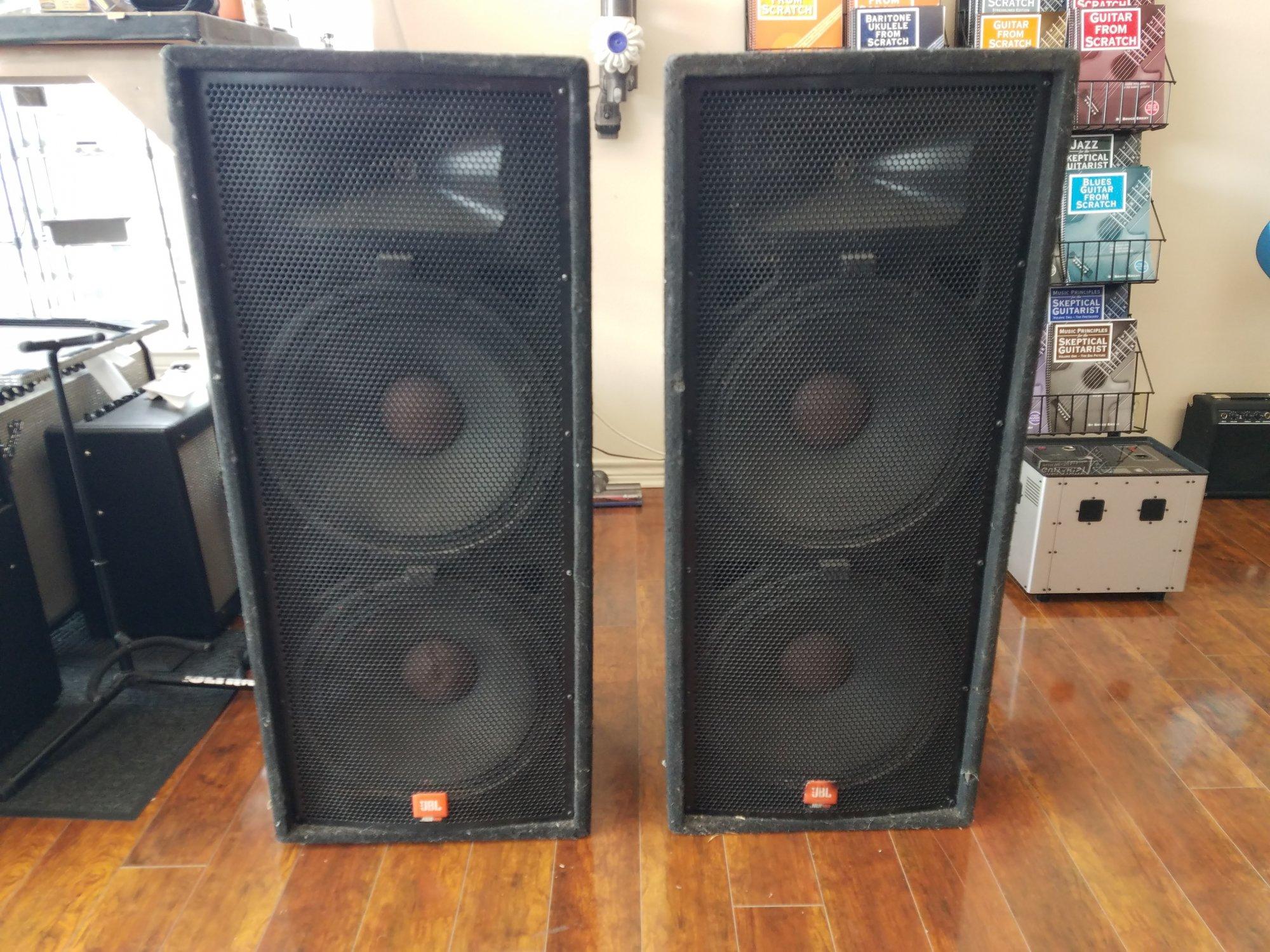 Used JBL JRX125 Dual 15 Speaker Pair