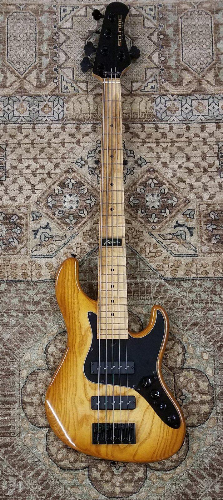 Used Soame JH524 Custom Abi Alvarez Bass in Honeyburst w/ Deluxe Gig Bag