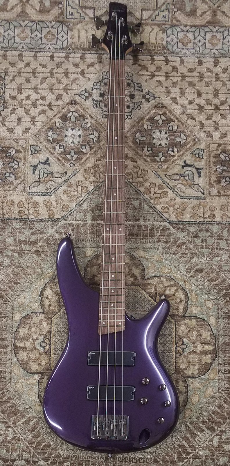 Used Ibanez SR300 Bass in Violet Metallic w/ Gig Bag & Extras
