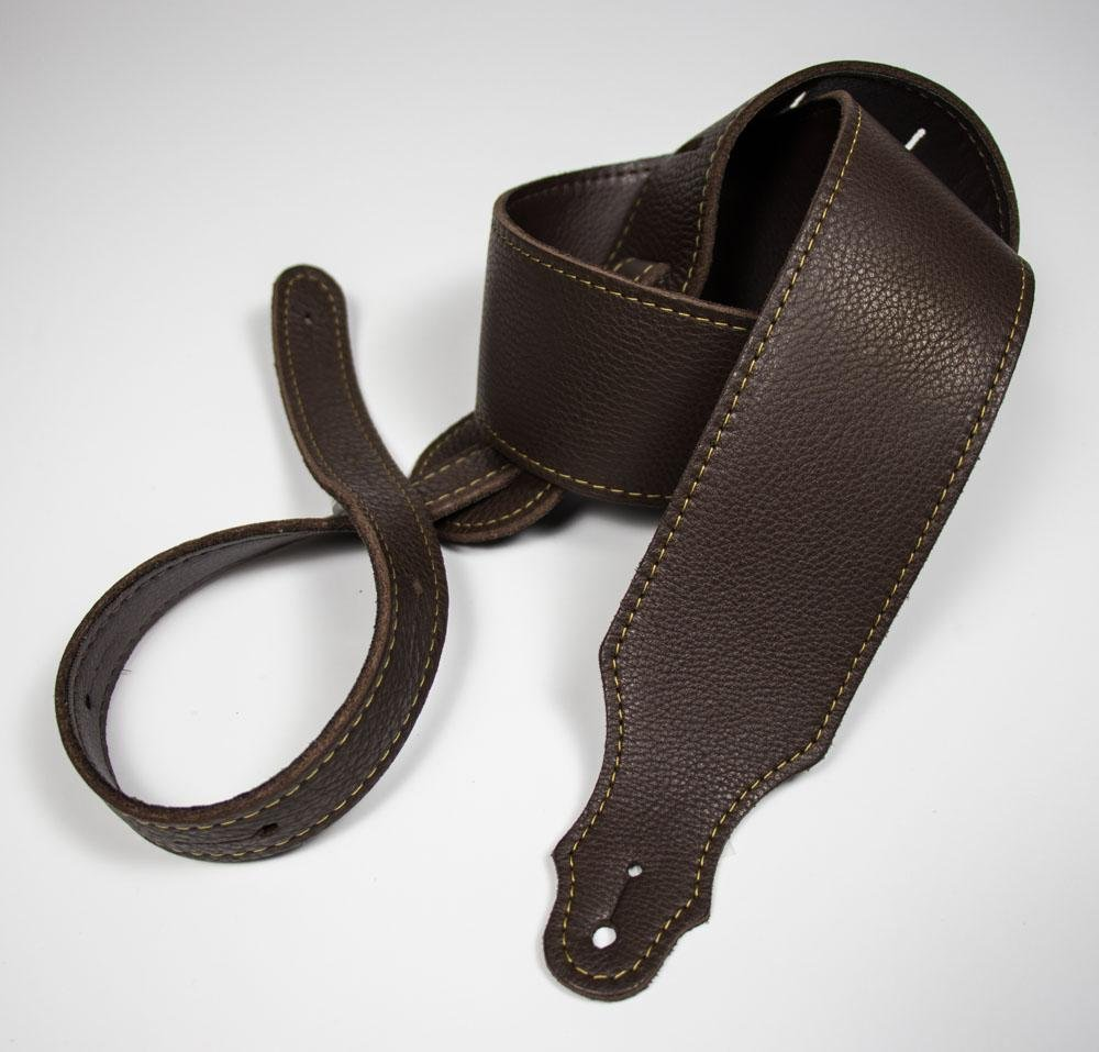 Franklin 2.5 Chocolate Leather/Gold Stitch/Buck Backing Strap
