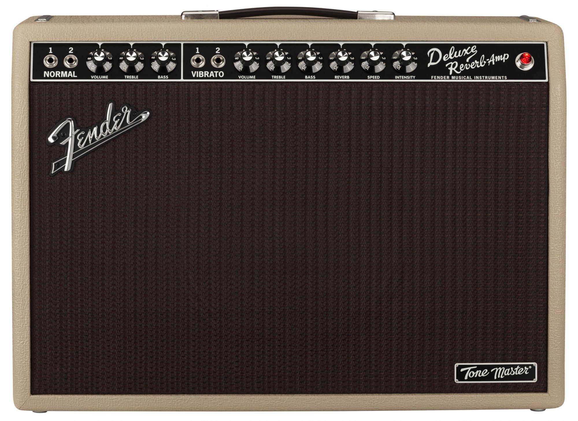 Fender Tone Master Deluxe Reverb Blonde 120V 1x12 Digital Guitar Combo Amp