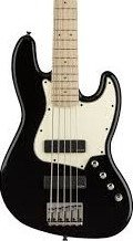 Squier Contemporary Active Jazz Bass HH V in Black w/ Pro Setup #2840