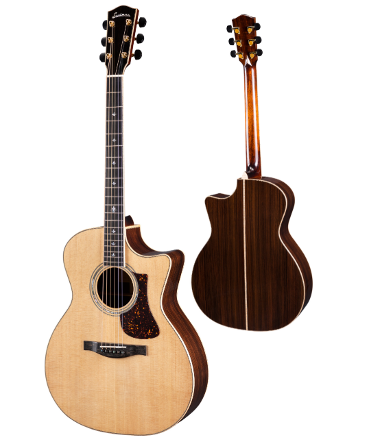 Eastman DT30GACE #0756 Grand Auditorium Double Top Ac/El Guitar w/Hardshell Case