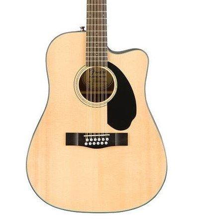 Fender CD-60SCE Dread 12-String Natural Finish, Walnut Fingerboard and Free Pro Setup!