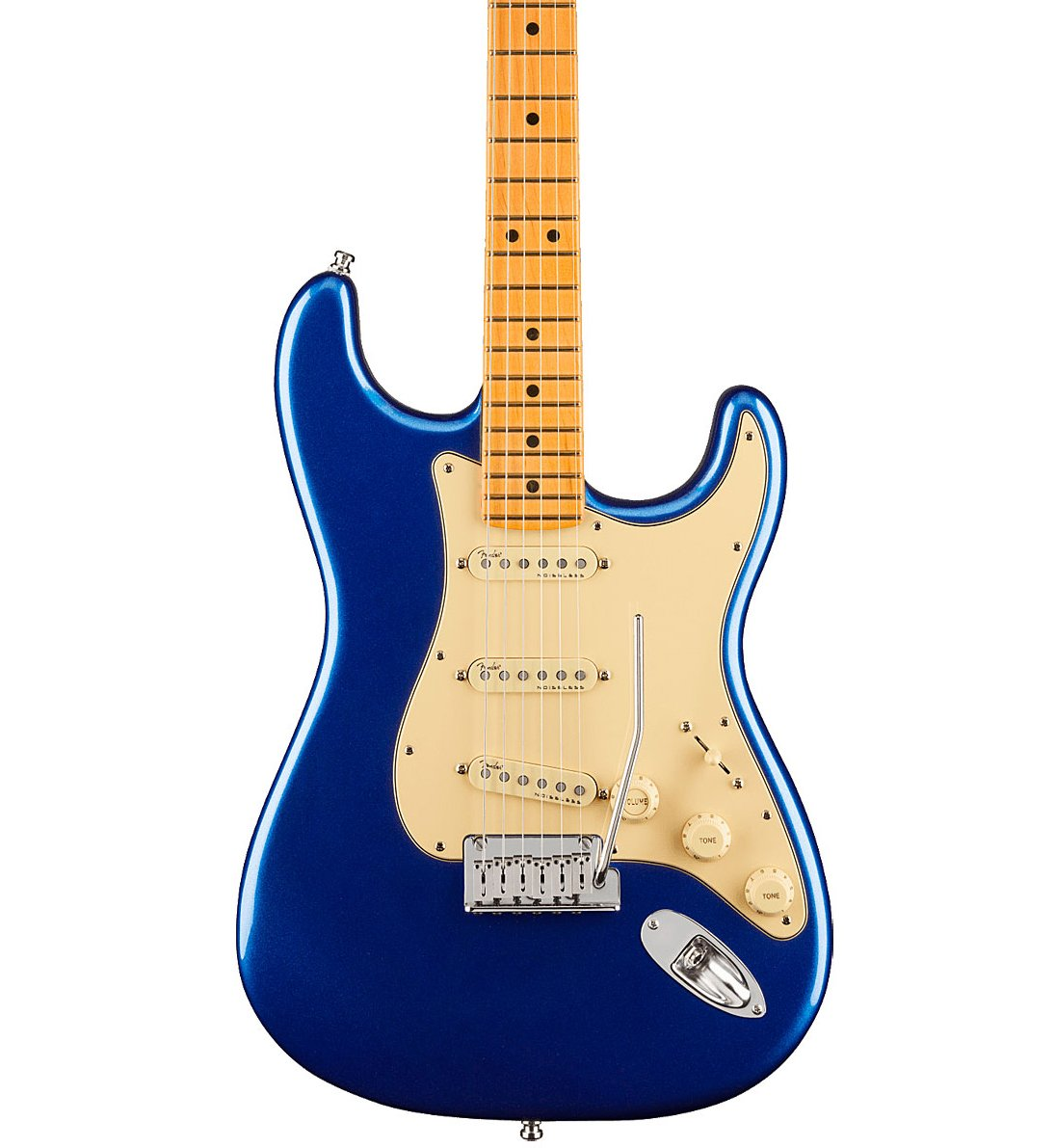 Fender American Ultra Stratocaster HSS in Cobra Blue w/ Case & Rosewood Fingerboard