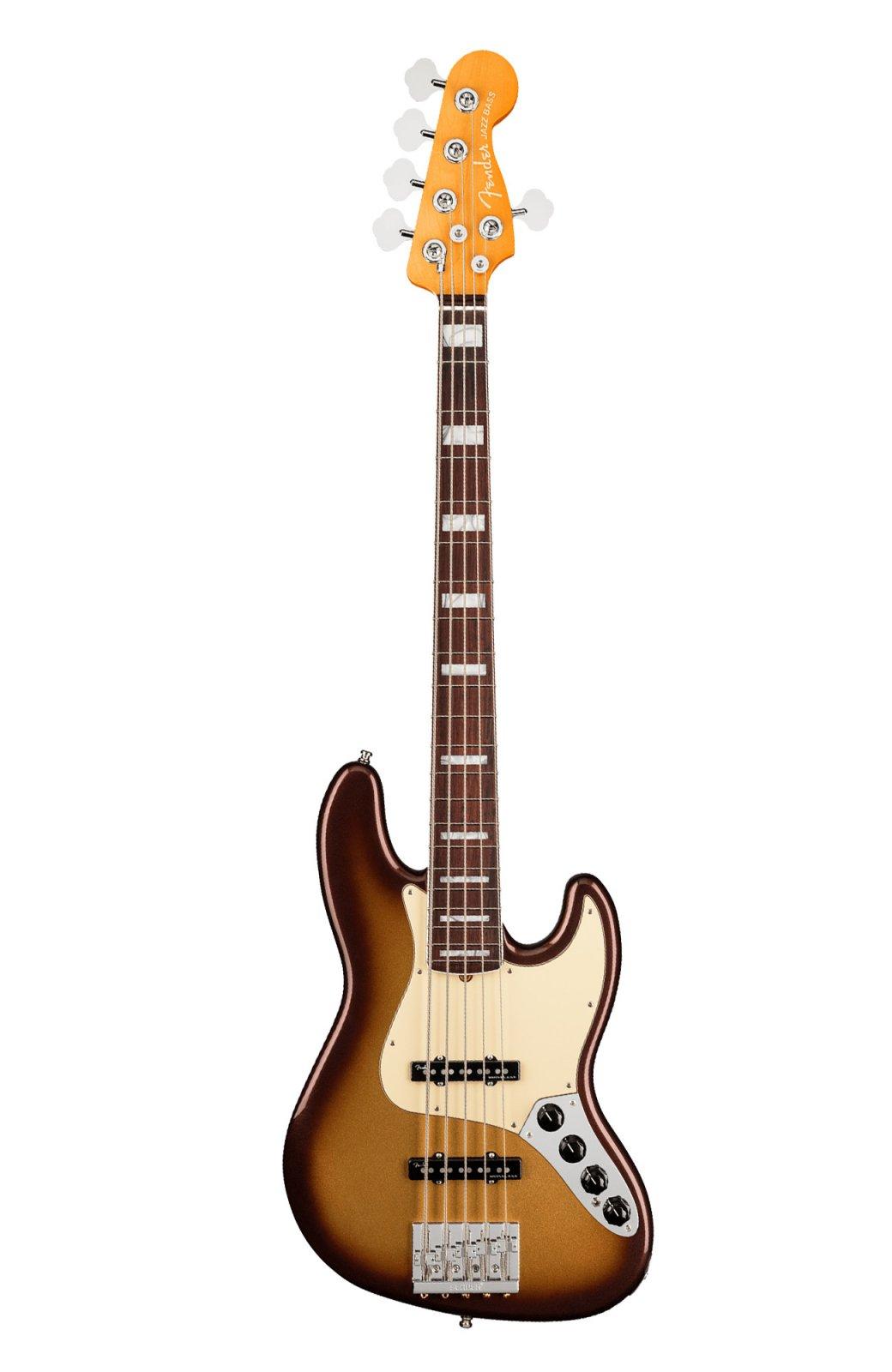 Fender American Ultra Jazz Bass V in Mocha Burst w/ Rosewood Fingerboard w/ Free Pro Setup
