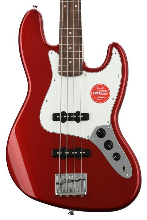 Squier Contemporary Jazz Bass Metallic Red