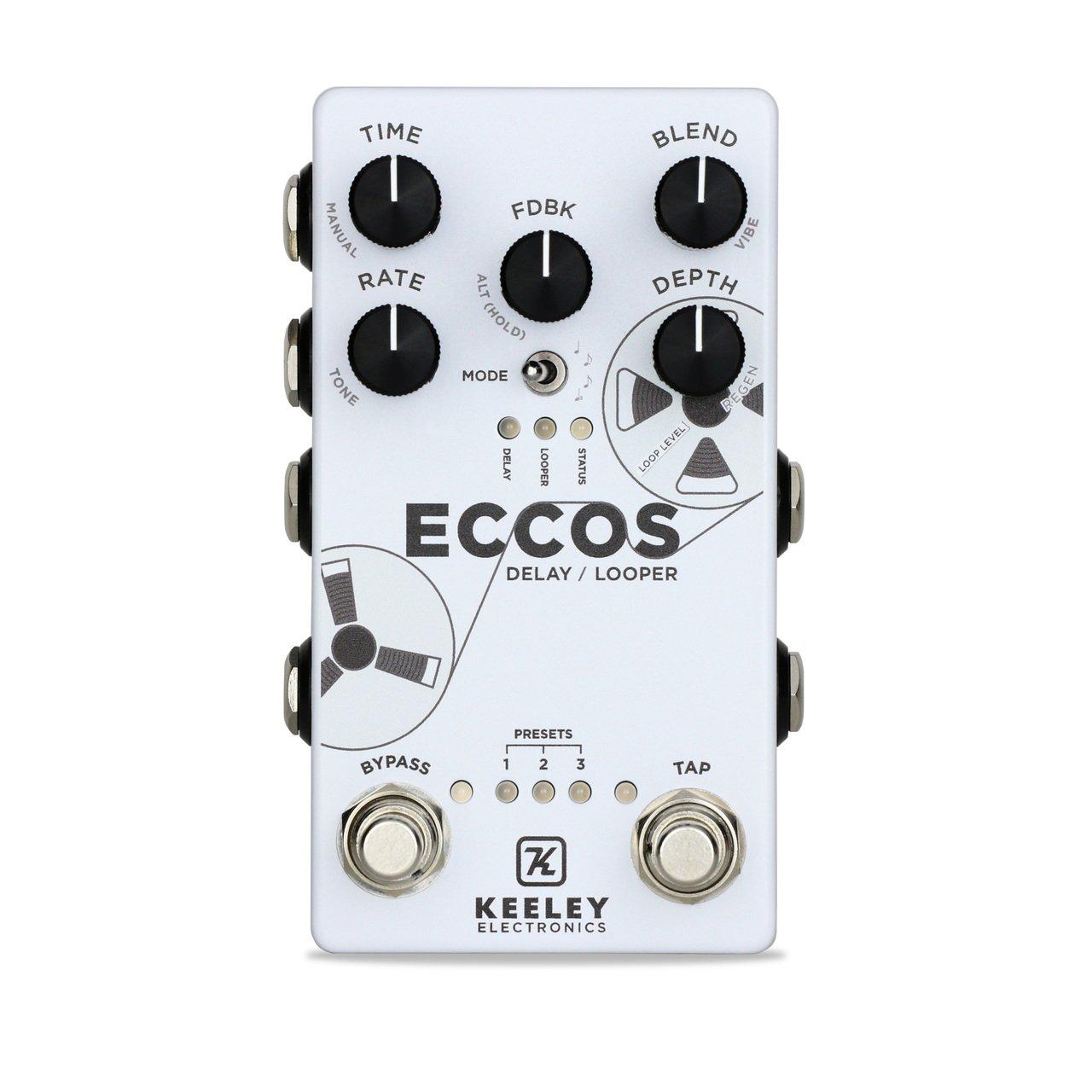 Keeley ECCOS Neo-Vintage Tape Delay and Looper Pedal
