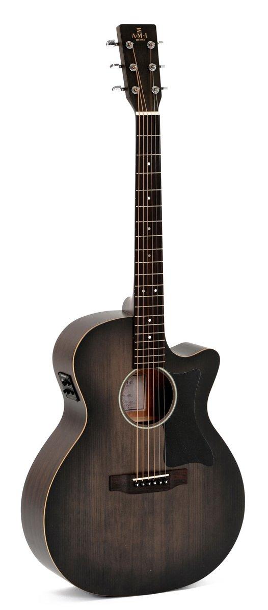 AMI/Sigma GMC-STE-BKB Grand Orchestra Acoustic-Electric w/ Free Pro Setup
