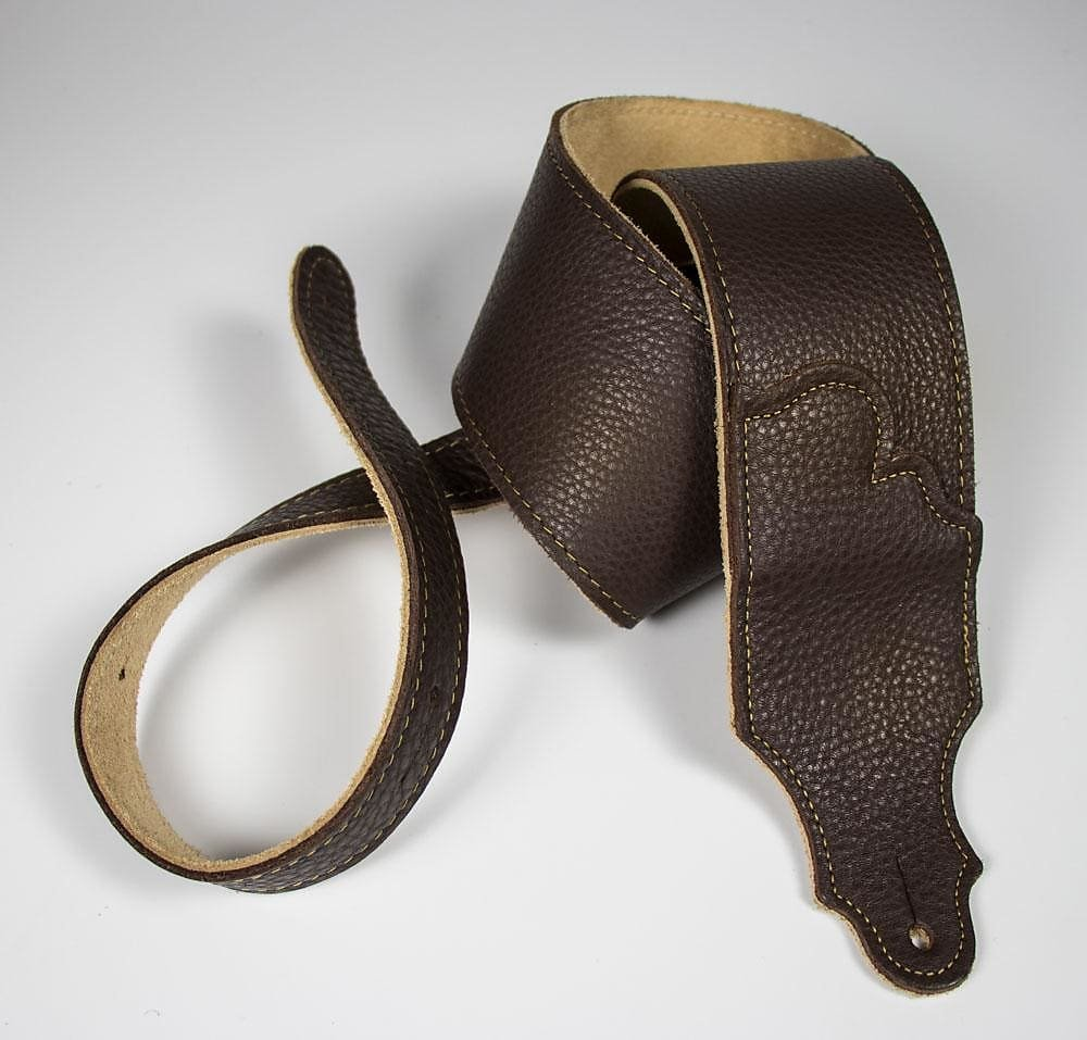Franklin 3 Strap Chocolate Leather/Gold Stitching