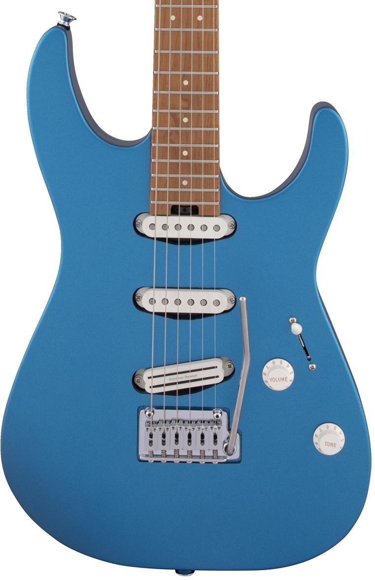 Charvel Pro Mod DK22 SSS 2PT CM in Electric Blue #1480