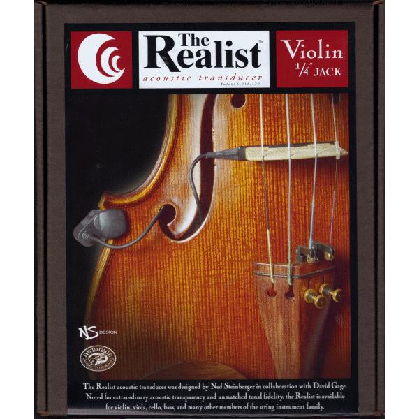 Realist Violin Pickup w/1/4 Jack