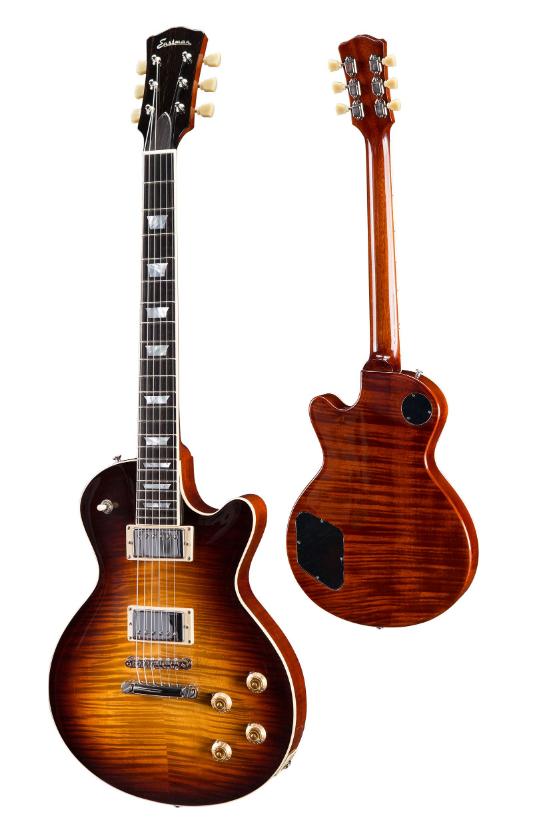 Eastman SB59-SB Solid Body Electric Guitar in Sunburst w/ Case #2723