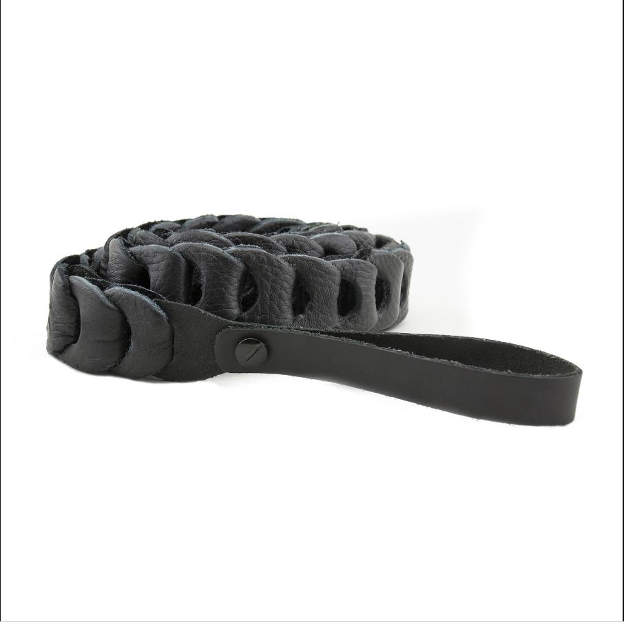 Franklin Black Leather Mandolin Strap